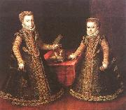 Infantas Isabella Clara Eugenia and Catalina Micaela